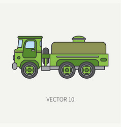 line flat color icon service staff vector image vector image