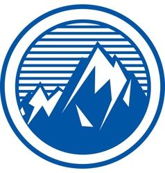 Mountain range logo vector image vector image