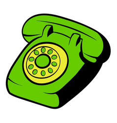 phone icon cartoon vector image vector image