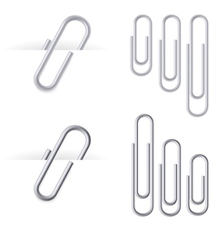 set of realistic clips vector image vector image