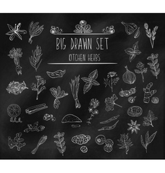 Set of various doodles hand drawn rough simple vector image vector image