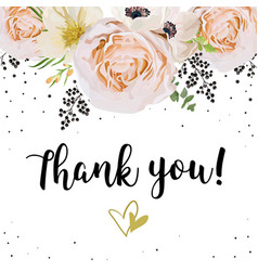 wedding invitation thank you card design with vector image