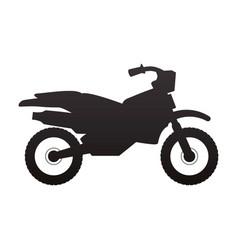 enduro motorcycle silhouette vector image
