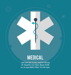 medical health care symbol design vector image