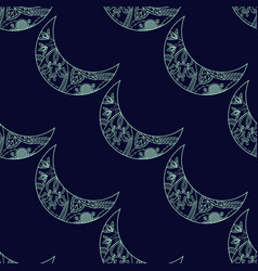 seamless pattern with crescents vector image vector image