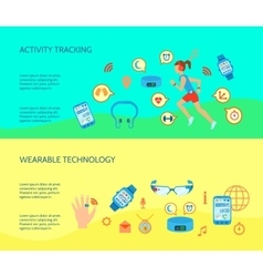 Wearable Technology Compositions Set vector image vector image
