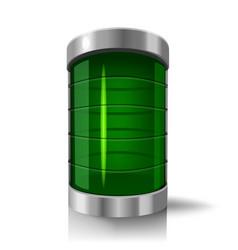 3d cylinders step or progress ind vector image