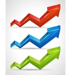 3d growth arrow vector image