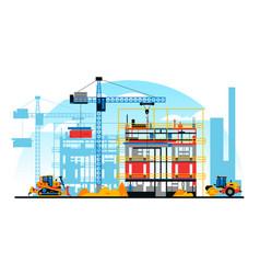 A building under construction against vector