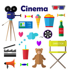 a set of bright for the film vector image