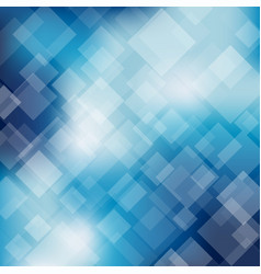 abstract blue transparent square background vector image