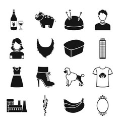 animal atelier skyscraper and other web icon in vector image