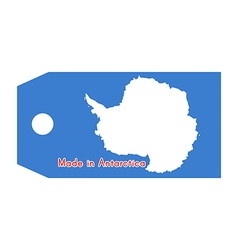 Antarctica flag on price tag vector