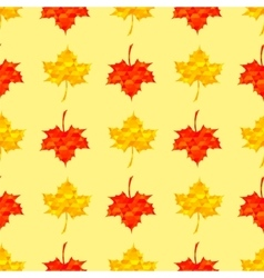 Autumn Red Maple Seamless Pattern vector image