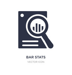 Bar stats icon on white background simple element vector