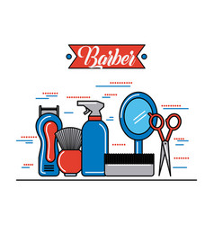 Barber shop accessories vector