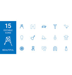 Beautiful icons vector