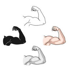 Biceps icon in cartoonblack style isolated on vector