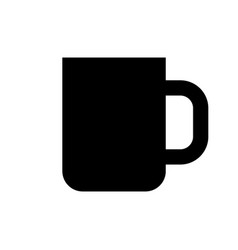 Black coffee cup icon vector