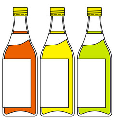 Bottles of drinks vector