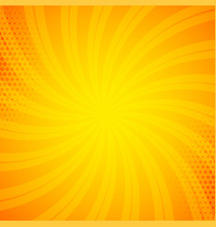 Bright orange comic book background vector