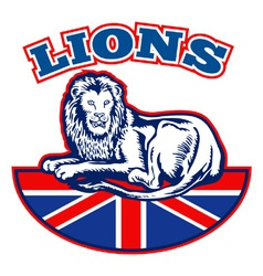 british lions team vector image