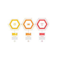 Business hexagon infographic design vector