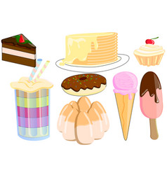 candya collection of favorite sweets vector image