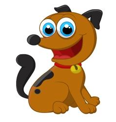 Cartoon adorable dog sitting vector image