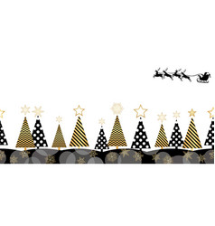 christmas seamless forest background vector image