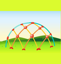 Climbing dome in playground vector