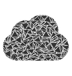 cloud collage of triangles vector image