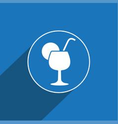 Cocktail icon sign icon symbol flat icon vector