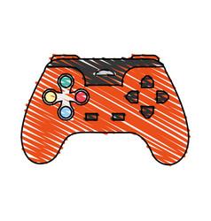 Color crayon stripe cartoon control video games vector