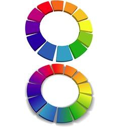 Color wheel set 3D wheels colors choice vector