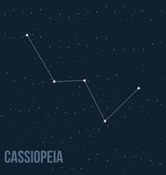 Constellation cassiopeia vector