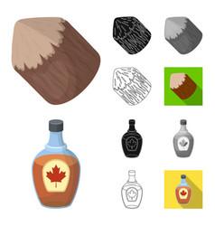country canada cartoonblackflatmonochrome vector image
