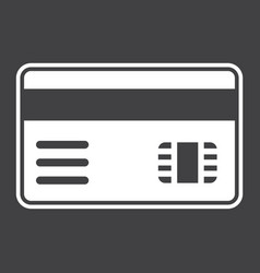 Credit card solid icon bank and business vector