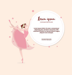 Cute cartoon dancing ballerina vector