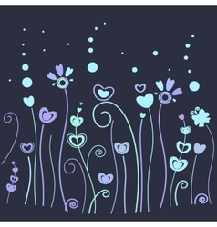 Dark grass pattern vector