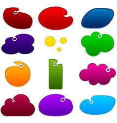 Dented notification sling shapes vector