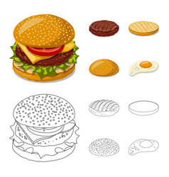 Design of burger and sandwich logo vector