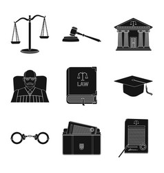 design of law and lawyer sign set of law vector image