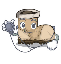 Doctor working boots isolated on the mascot vector