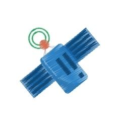 Drawing satellite antenna communication global vector