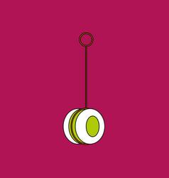 Flat icon design collection yo yo toy vector