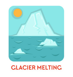 glacier melting and global warming natural vector image