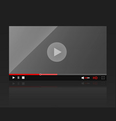 Glossy video player frame modern video vector