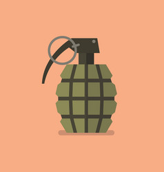 grenade icon in flat style vector image