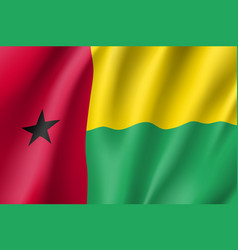 Guinea-bissau realistic flag vector